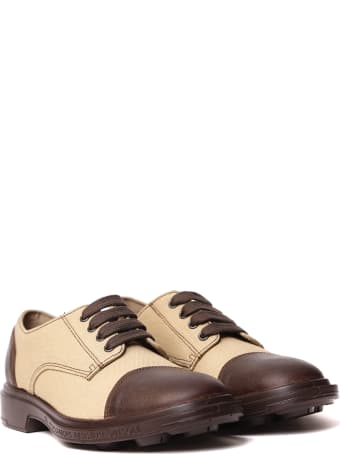 Pezzol 1951 Canvas & Leather Lace-up Shoes