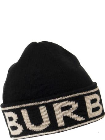 Burberry Cashmere Cap With Logo
