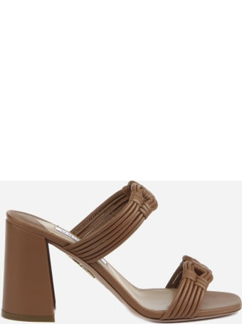 Aquazzura Noah Sandals Made Of Leather