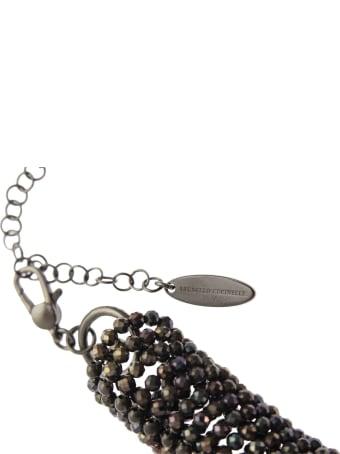 Brunello Cucinelli Vetro And Sterling Silver Necklace