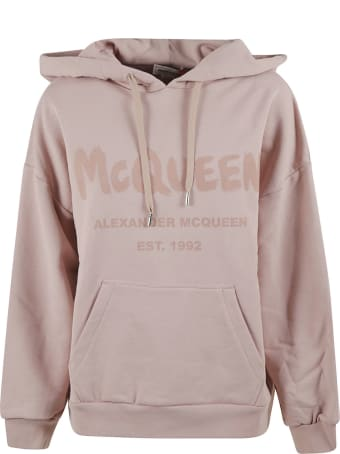 Alexander McQueen Graffiti Logo Print Sweatshirt