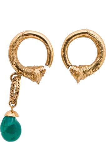 Patou Asymmetric Hoop Earrings
