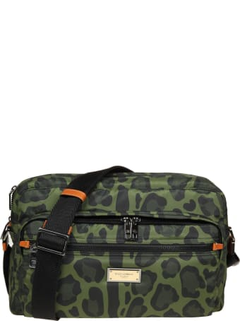 Dolce & Gabbana Messenger In Nylon With Camouflage Print