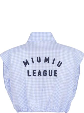 Miu Miu Back Logo Detail Tank Top