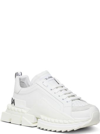 Dolce & Gabbana Chunkyn Leather Sneakers  With Logo