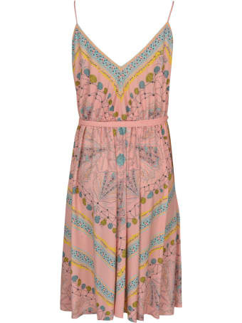 Emilio Pucci V-Neck Printed Sleeveless Dress