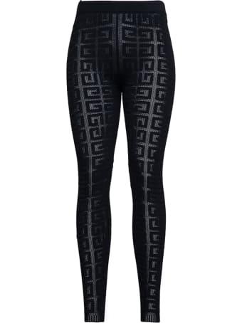 Givenchy 4g Monogram Stretch Viscose Leggings