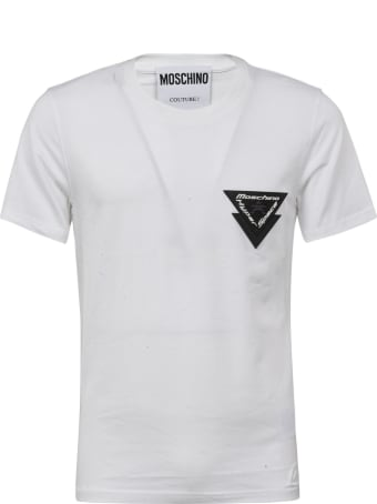 Moschino Logo Patched T-shirt