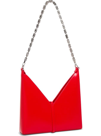 Givenchy Small Cut Out Crossbody Bag In Red Box Leather