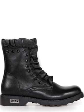 Cult Leather Biker With Laces