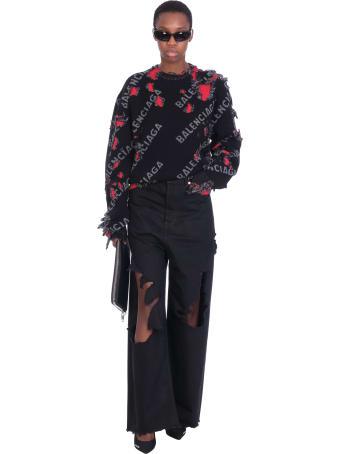 Balenciaga Jeans In Black Denim