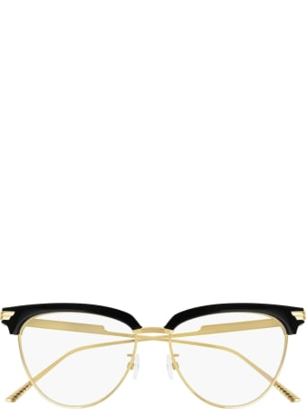 Bottega Veneta Bottega Veneta Bv1010o Black & Gold Glasses