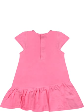 Little Marc Jacobs Pink Dress For Baby Girl With Logo