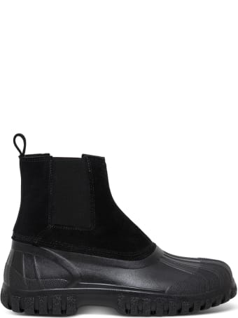 Diemme Balbi Black Suede And Rubber Boots
