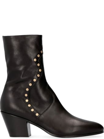 Celine Studded Leather Ankle Boots
