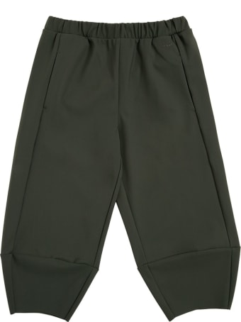 Il Gufo Green Sensitive Fabrics Jogger Pants