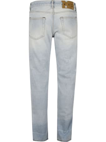 Off-White Corp Distress Skinny Jeans