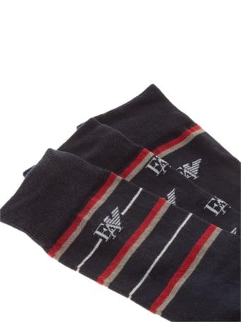 Emporio Armani Underwear Eyelike Knee High Socks