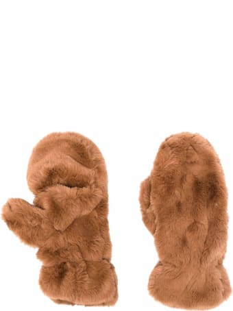 Apparis Brown Coco Gloves In Ecological Fur