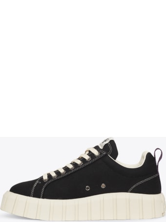 Eytys Black Canvas Lace-up Low Sneaker