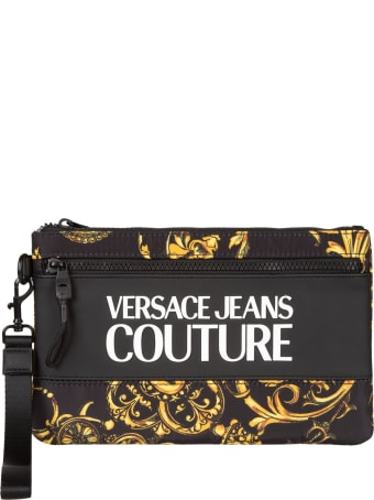 Versace Jeans Couture Logo Print Clutch