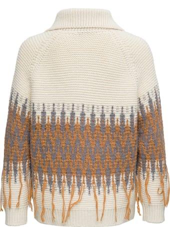 Fabiana Filippi Norwegian Jacquard Wool Cardigan