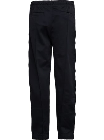 Givenchy Black Cotton Pants With Drawstring