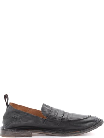 Moma Loafers In Black Aged Leather