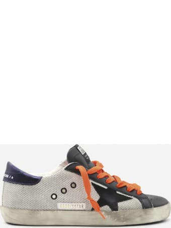 Golden Goose Superstar Sneakers In Leather With Mesh Inserts And Contrasting Heel Tab