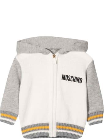 Moschino Newborn White Sweatshirt