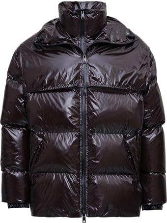 Bottega Veneta Oversize Quilted Brown Nylon Down Jacket