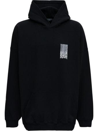 Balenciaga Barcode Hoodie In Black Cotton
