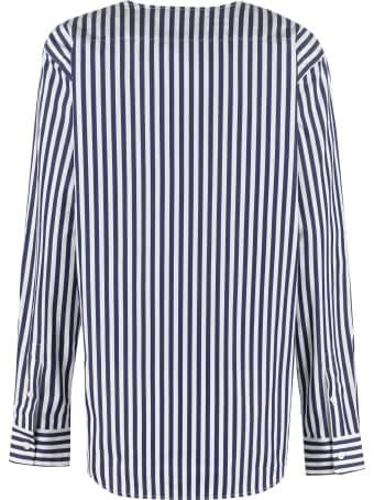 Plan C Striped Cotton Shirt