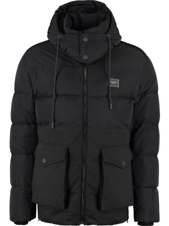 Dolce & Gabbana Hooded Full-zip Down Jacket