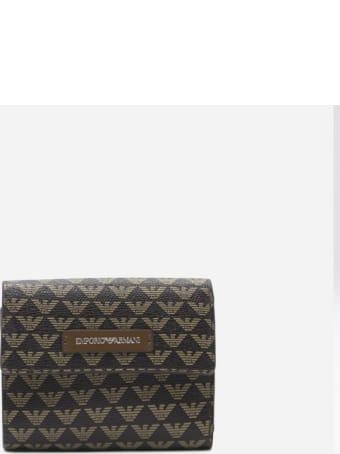 Emporio Armani Wallet With All-over Monogram Motif