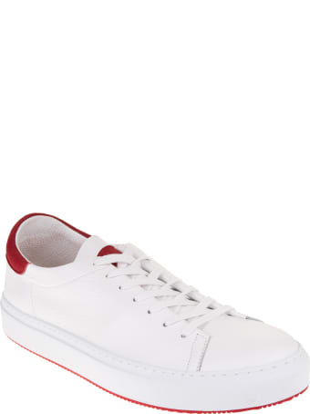 Andrea Ventura Man White And Red Giannutri Sneakers