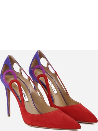 Aquazzura Fenix Suede Pumps