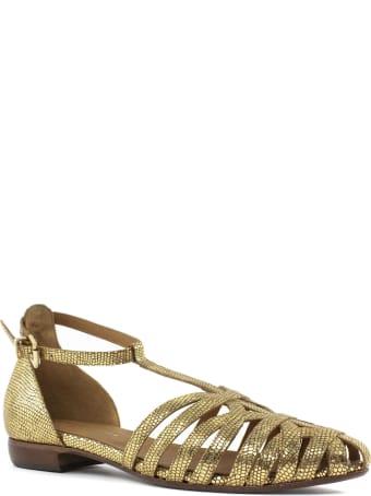 Duccio del Duca Metallic Gold Leather Sandal