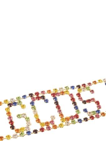 GCDS Crystal-embellished Logo Chocker