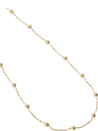 Bottega Veneta Necklace With Gold Plated Silver Spheres