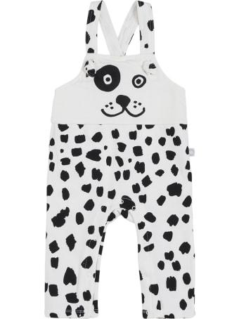 Stella McCartney Kids Dalmatian Printed Cotton Dungarees
