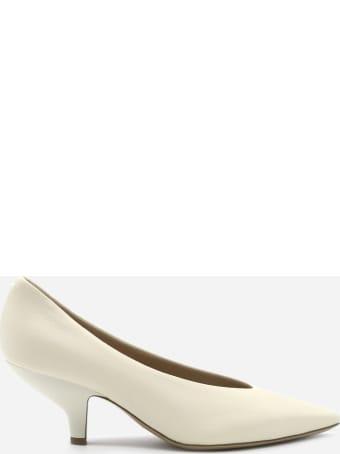 Maison Margiela Leather Décolleté With Tone-on-tone Logo Detail