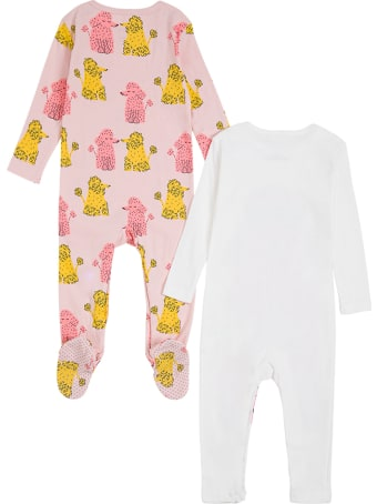 Stella McCartney Kids Set Of Two Cotton Romper With Poodle Print