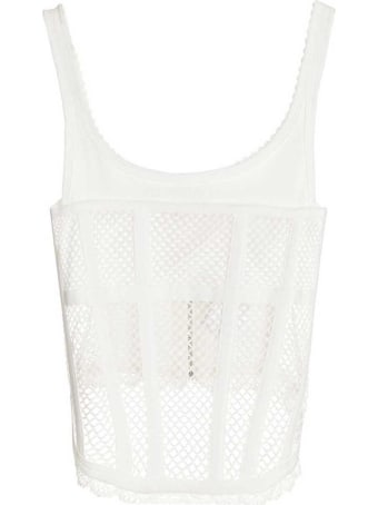 Dion Lee 'net Lace Suspended' Top