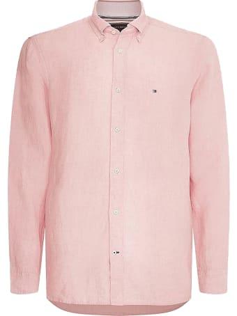 Tommy Hilfiger Shirt In Pinklinen