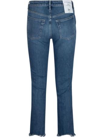 3x1 Fringed Hem Cropped Jeans