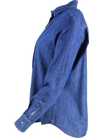 Barba Napoli Denim Shirt With Rhinestones
