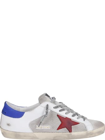Golden Goose White Leather And Canvas Super-star Sneakers