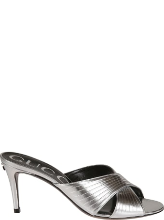 Gucci Cross-strap Logo Sandals