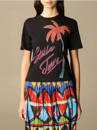 Stella Jean T-shirt Stella Jean T-shirt In Cotton With Palm Tree